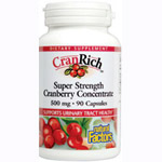 Natural Factors - CranRich Super Strength Cranberry Concentrate 500 mg - 90 Cap 【別送料】