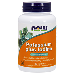 NOW - Potassium plus Iodine - 180 錠 【別送料】