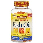 Nature Made - Fish Oil Adult Gummies, Orange. Lemon. Strawberry banana - 220グミ 【別送料】