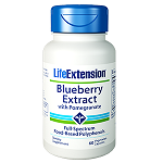 Life Extension(#01438) -  Blueberry Extract with Pomegranate - 60 カプセル ブルーベリーとザクロ