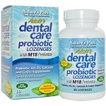 Nature's Plus - Adult Dental Care Probiotic with M18, Natural Peppermint Flavor - 60 Lozenges アダルトデンタルケアプロバイオティック ウィズ エム18