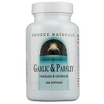 Source Naturals - Garlic and Parsley - 250 ソフトジェル ガーリック パセリ 【別送料】