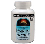 Source Naturals - Daily Essential Enzymes™  500 mg - 120カプセル デイリーエッセンシャルエンザイム