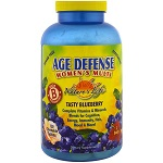 Nature's Life - Age Defense Women's Multi, Tasty Blueberry - 120チュアブル錠【別送料】